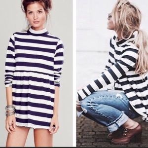 Free People We The Free Striped Baby Doll Tunic